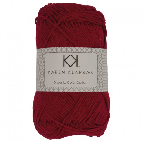 Dark Christmas Red (Julerød) - KK Organic Color Cotton økologisk bomuldsgarn fra Karen Klarbæk