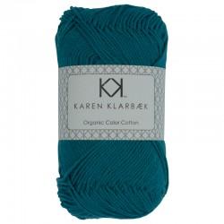 8/4 Petrol - KK Organic Color Cotton økologisk bomuldsgarn fra Karen Klarbæk