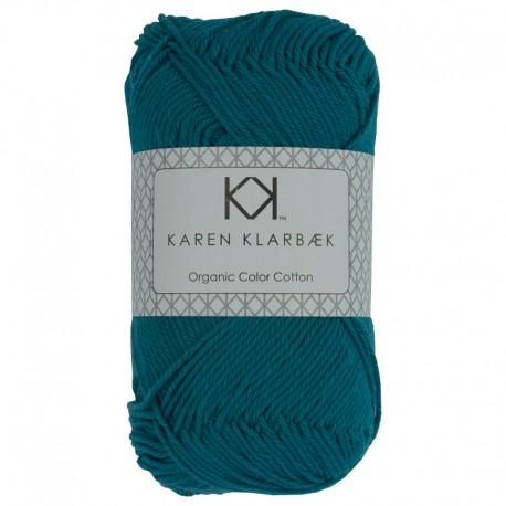 Petrol blå - KK Color Cotton økologisk bomuldsgarn fra Karen Klarbæk