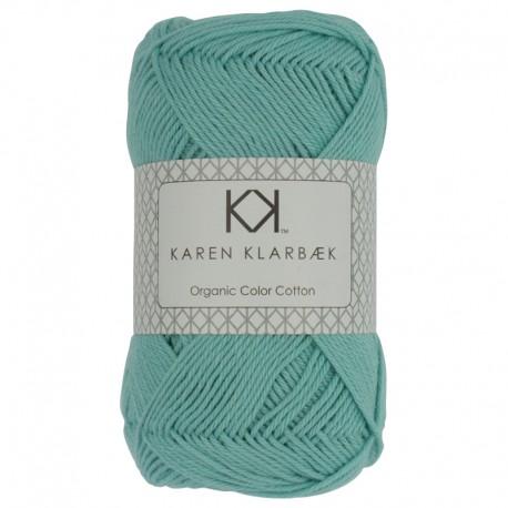 Turkis - KK Color Cotton økologisk bomuldsgarn fra Karen Klarbæk - KK Color Cotton økologisk bomuldsgarn fra Karen Klarbæk