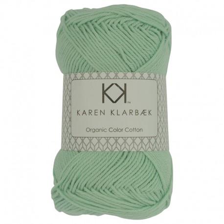 Mint grøn - KK Color Cotton økologisk bomuldsgarn fra Karen Klarbæk