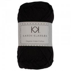Sort - KK Color Cotton økologisk bomuldsgarn fra Karen Klarbæk
