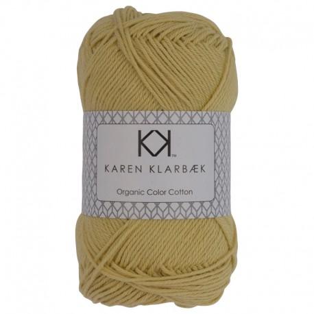 8/4 Pastel Yellow - KK Organic Color Cotton økologisk bomuldsgarn fra Karen Klarbæk