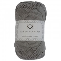 8/4 Cool Grey - KK Color Cotton økologisk bomuldsgarn fra Karen Klarbæk