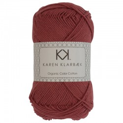 8/4 Brick Red - KK Organic Color Cotton økologisk bomuldsgarn fra Karen Klarbæk