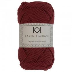 8/4 Dark Brick Red - KK Organic Color Cotton økologisk bomuldsgarn fra Karen Klarbæk