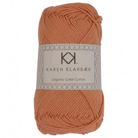 Abrikos - KK Color Cotton økologisk bomuldsgarn fra Karen Klarbæk