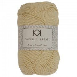 8/4 Light Yellow - KK Organic Color Cotton økologisk bomuldsgarn fra Karen Klarbæk