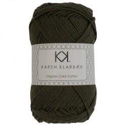 8/4 Dark Olive - KK Organic Color Cotton økologisk bomuldsgarn fra Karen Klarbæk