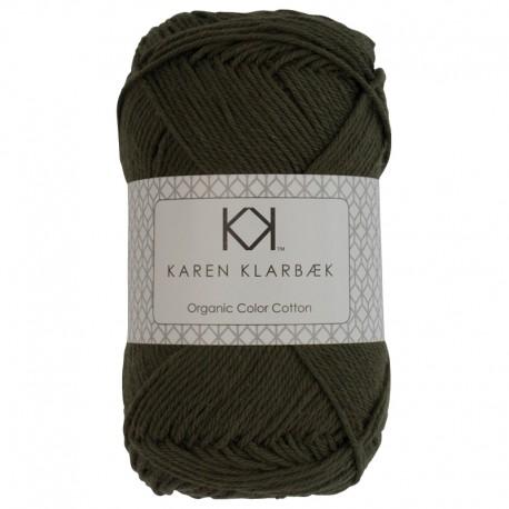 Dark Olive - KK Color Cotton økologisk bomuldsgarn fra Karen Klarbæk