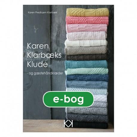 """Strikkebog """"Karen Klarbæks Klude - og gæstehåndklæder"""" - E-BOG"""