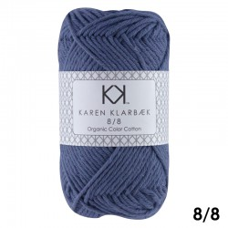 8/8 Jeans Blue - KK Organic Color Cotton økologisk bomuldsgarn fra Karen Klarbæk