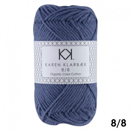 Jeans Blue 8/8 - KK Color Cotton økologisk bomuldsgarn fra Karen Klarbæk