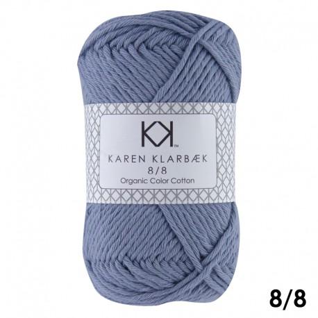 8/8 Faded Jeans Blue - KK Color Cotton økologisk bomuldsgarn fra Karen Klarbæk