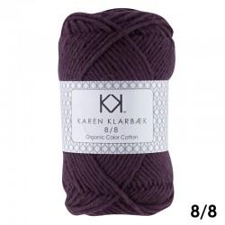 8/8 Aubergine - KK Organic Color Cotton økologisk bomuldsgarn fra Karen Klarbæk
