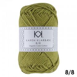 8/8 Mustard - KK Organic Color Cotton økologisk bomuldsgarn fra Karen Klarbæk