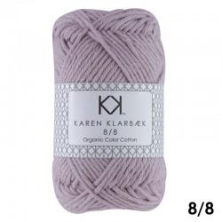 8/8 Soft Lilac - KK Color Cotton økologisk bomuldsgarn fra Karen Klarbæk