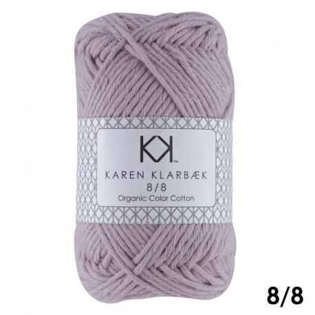 Soft Lilac 8/8 - KK Color Cotton økologisk bomuldsgarn fra Karen Klarbæk