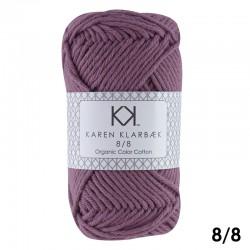 Plum 8/8 - KK Organic Color Cotton økologisk bomuldsgarn fra Karen Klarbæk