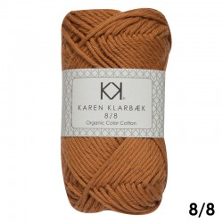 Burned Orange 8/8 - KK Color Cotton økologisk bomuldsgarn fra Karen Klarbæk