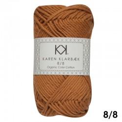 Burned Orange 8/8 - KK Organic Color Cotton økologisk bomuldsgarn fra Karen Klarbæk