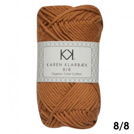 Burned Orange 8/8 - KK Color Cotton økologisk bomuldsgarn fra Karen Klarbæk