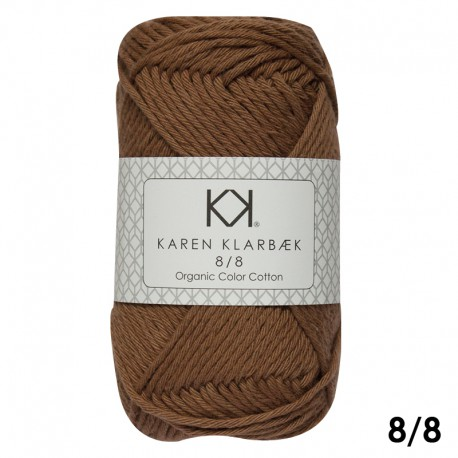 Brown Sugar 8/8 - KK Color Cotton økologisk bomuldsgarn fra Karen Klarbæk