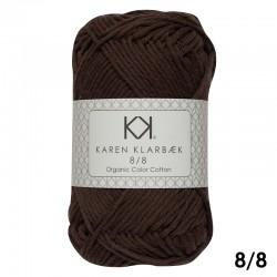 Chocolate 8/8 - KK Organic Color Cotton økologisk bomuldsgarn fra Karen Klarbæk
