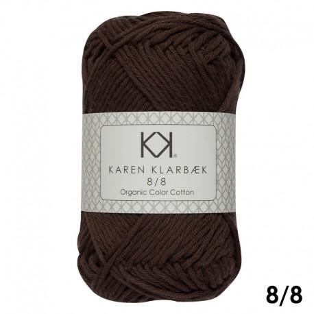 Chocolate 8/8 - KK Color Cotton økologisk bomuldsgarn fra Karen Klarbæk