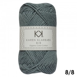 Light Lead Blue 8/8 - KK Color Cotton økologisk bomuldsgarn fra Karen Klarbæk