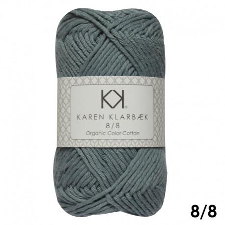 Light Lead Blue 8/8 - KK Organic Color Cotton økologisk bomuldsgarn fra Karen Klarbæk