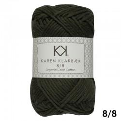 Dark Kombu Green 8/8 - KK Organic Color Cotton økologisk bomuldsgarn fra Karen Klarbæk
