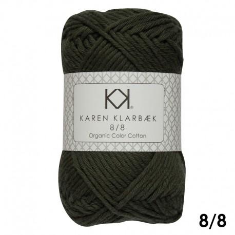 Dark Kombu Green 8/8 - KK Color Cotton økologisk bomuldsgarn fra Karen Klarbæk