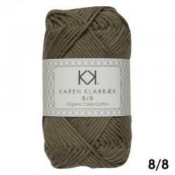 8/8 Olive Green - KK Color Cotton økologisk bomuldsgarn fra Karen Klarbæk