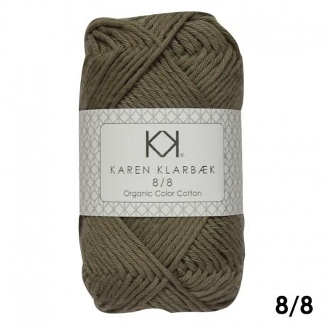 Olive Green 8/8 - KK Organic Color Cotton økologisk bomuldsgarn fra Karen Klarbæk