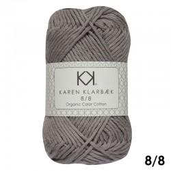 Frost Grey 8/8 - KK Organig Color Cotton økologisk bomuldsgarn fra Karen Klarbæk