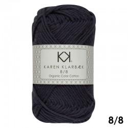 8/8 Navy Blue - KK Color Cotton økologisk bomuldsgarn fra Karen Klarbæk