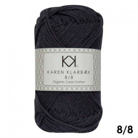 Navy Blue 8/8 - KK Organic Color Cotton økologisk bomuldsgarn fra Karen Klarbæk