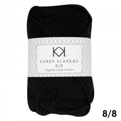 8/8 Black - KK Color Cotton økologisk bomuldsgarn fra Karen Klarbæk