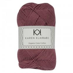 Plum 8/4 - KK Color Cotton økologisk bomuldsgarn fra Karen Klarbæk