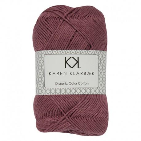 Plum 8/4 - KK Organic Color Cotton økologisk bomuldsgarn fra Karen Klarbæk