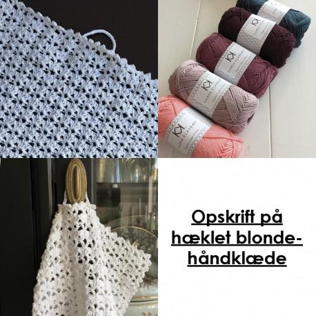 Opskrift på hæklet blondehåndklæde - 8/4