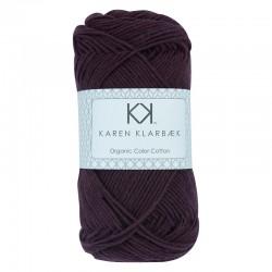 8/4 Aubergine - KK Organic Color Cotton økologisk bomuldsgarn fra Karen Klarbæk