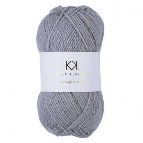 Light Grey Melange - KK Pure Organic Wool - økologisk uldgarn fra Karen Klarbæk