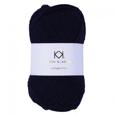 Navy Blue - KK Pure Organic Wool - økologisk uldgarn fra Karen Klarbæk