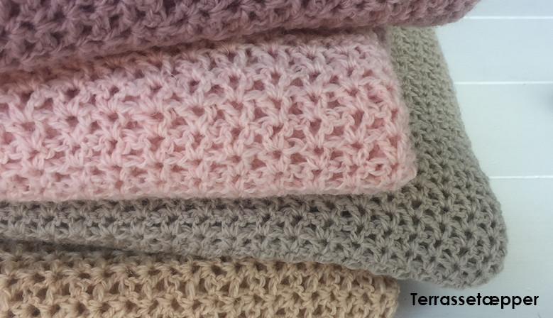 Terrassetæppe i uld