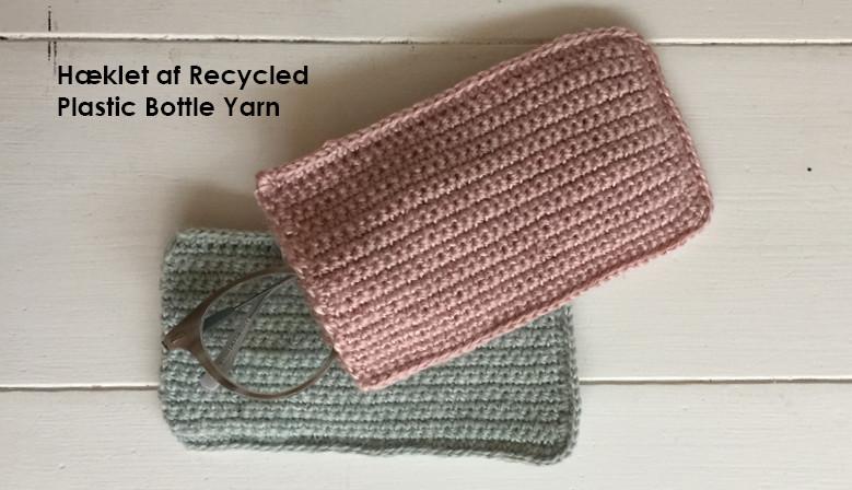 Brilleetui hæklet i Recycled Plastic Bottle Yarn